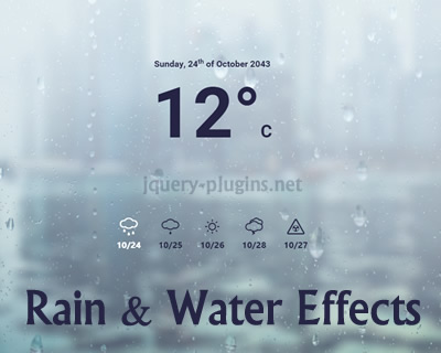 Rain & Water Effect Experiments