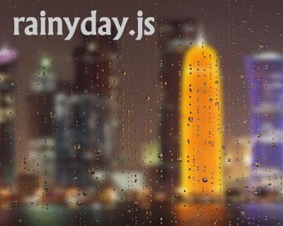rainyday.js – Rendering Raindrops with Javascript