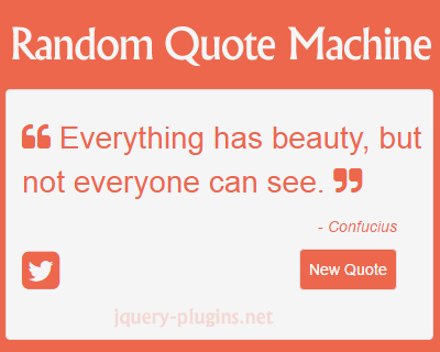 Random Quote Machine with jQuery and JSON