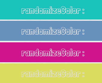 randomizeColor – Random Color for Backgrounds and Texts on Hover