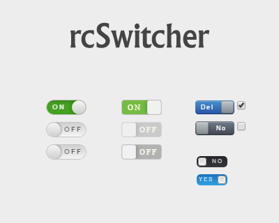 rcSwitcher – jQuery Radio Checkbox Switcher