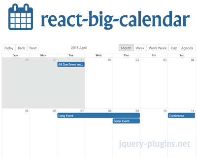 React Big Calendar – Google Calendar/Outlook Like Calendar Component