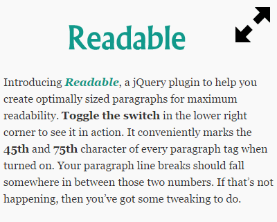Readable – jQuery Plugin to Create Readable Paragraphs