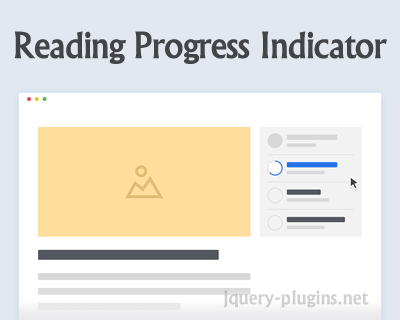 Reading Progress Indicator with CSS, SVG and jQuery