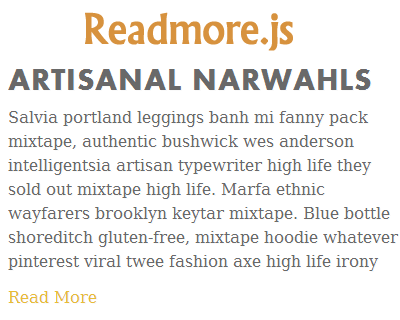Readmore.js – jQuery Plugin to Expand and Collapse Texts
