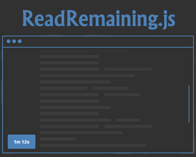 ReadRemaining.js – Show Remaining Duration of Reading Any Text