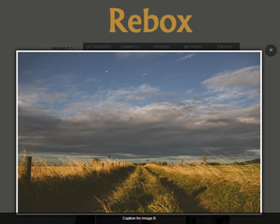 Rebox – Responsive jQuery Lightbox Plugin