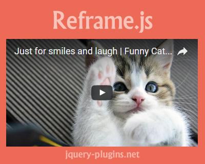 Reframe.js – Javascript Plugin to Make Unresponsive Elements Responsive