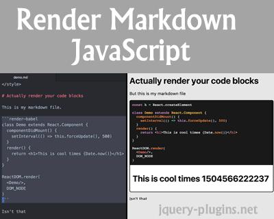 Render Markdown JavaScript