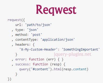 Reqwest – Browser Asynchronous HTTP Requests