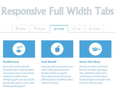 Responsive Full Width Tabs