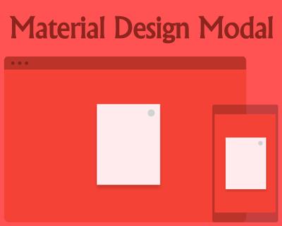 Responsive Material Design Modals
