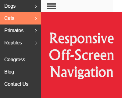 cbFlyout – Responsive Off-Screen Navigation with jQuery