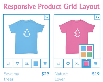Responsive Product Grid Layout
