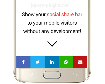 Responsive Social Share for Mobile with jQuery