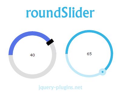 roundSlider – jQuery Circular Range Slider Plugin