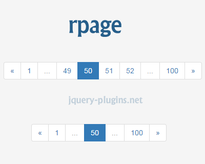 rpage – Responsive Pagination for Bootstrap