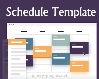 Schedule Template with CSS and jQuery