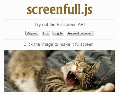 Screenfull.js – Simple Cross Browser Wrapper for JavaScript Fullscreen API