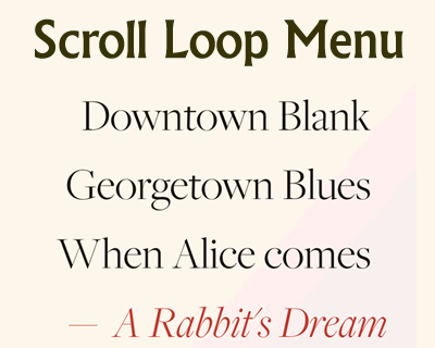 Scroll Loop Menu – An Infinitely Scrollable Vertical Menu
