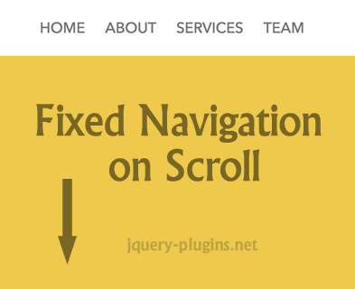 Scroll To Top Then Fixed Navigation Effect With jQuery and CSS