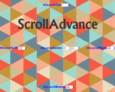 ScrollAdvance – jQuery Plugin for Useful Scroll Functions