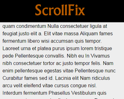 ScrollFix – jQuery Plugin for Fixed Elements