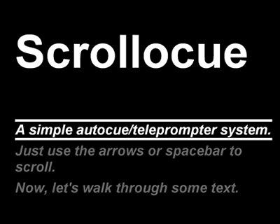 Scrollocue – Simple Autocue/Teleprompter jQuery Plugin
