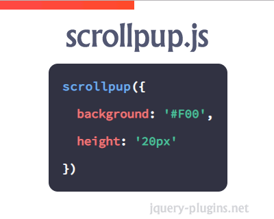 Scrollpup.js – Scroll Progress Bar with Javascript