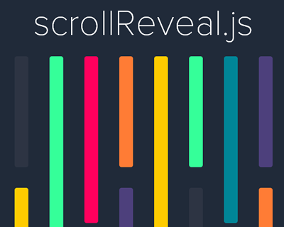 scrollReveal.js – Declarative On-Scroll Reveal Animations