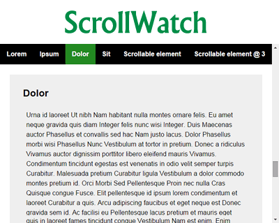 ScrollWatch – jQuery Plugin for Determining Active Sections on Scrolling