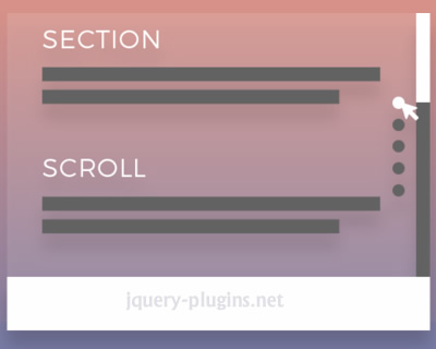 Section Scroll – jQuery Plugin for Scrollable Sections Navigation