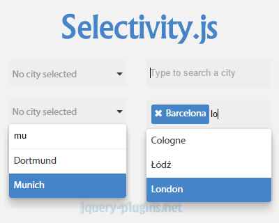 Selectivity – Modular & Lightweight Selection Library for jQuery