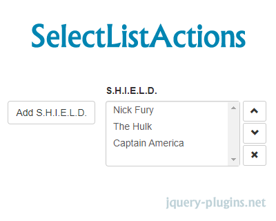SelectListActions – jQuery Plugin to Perform Actions for HTML Select Lists