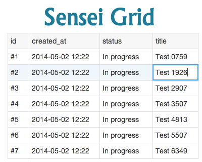 Sensei Grid – Simple Data Grid Library in JavaScript