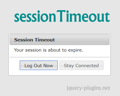 sessionTimeout – jQuery Session Timeout Plugin with Dialog