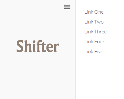 Shifter – Slide Out Mobile Navigation