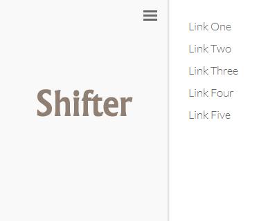 Shifter – Slide Out Mobile Navigation