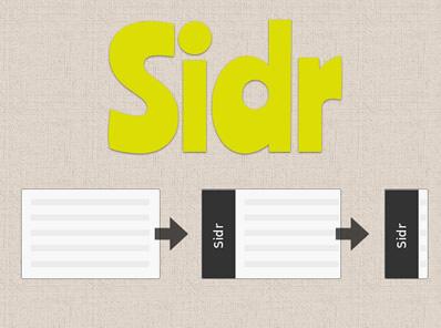 Sidr – jQuery Plugin for Creating Responsive Side Menus