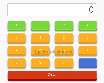 SimpleCalculadora – Simple jQuery Calculator Plugin