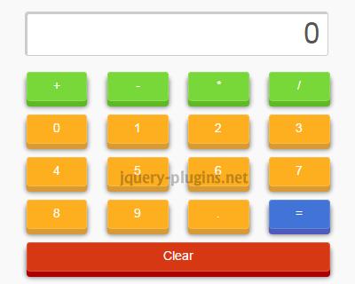 SimpleCalculadora – Simple jQuery Calculator Plugin
