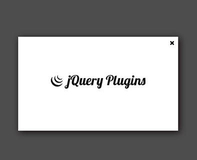 Simple jQuery Popup Plugin with Transition