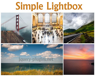 Simple Lightbox – Touch-Friendly Image Lightbox with jQuery