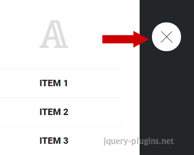 Simple Push Menu with Javascript and CSS