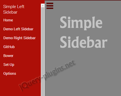 Simple Sidebar – Simple jQuery Sidebar Plugin