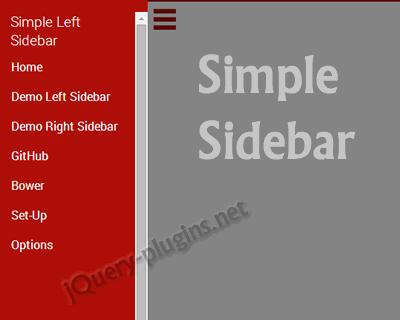 Simple Sidebar – Simple jQuery Sidebar Plugin