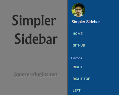 Simpler Sidebar – Simple jQuery Sidebar Plugin