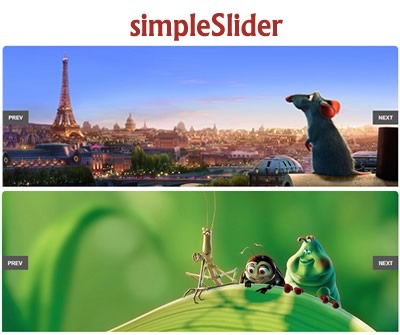 simpleSlider – Customizable jQuery Content & Image Slider