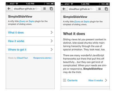SimpleSlideView – jQuery Plugin for Simplest of Sliding Views