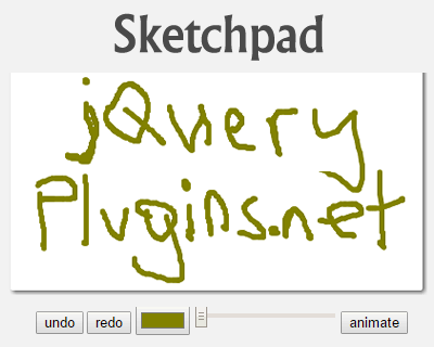 Sketchpad – Simple Sketchpad Library with Javascript